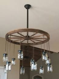 wagon wheel chandelier diy