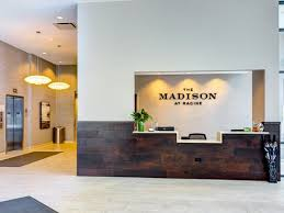 madison office common area. Leasing Office At The Madison Racine, IL, 60607 Common Area