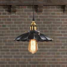 Edison Vintage Style Industrial Light Retro Nostalgia Chandelier coffee  shop Restaurant LED Black Lotus Umbrella Pendant