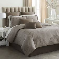 modern modern bedroom design with light brown decorative king bedding sets and white painted master
