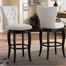 baxton studio leonice white faux leather upholstered 2 piece bar stool set 2pc 6824 hd the home depot