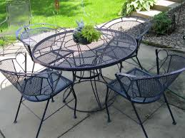 iron patio table chairs