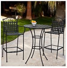wrought iron bistro set bar height pub counter tall table outdoor bar height table cover