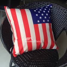Flag Unique Blue And Red Throw Pillows Memory Foam