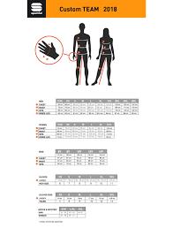 Custom Size Chart Size Chart Sportful
