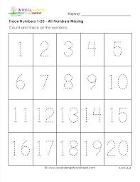 number 1 worksheets for preschool – pular