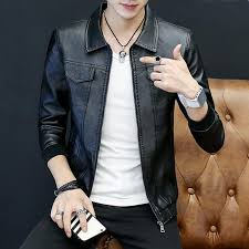2019 mens leather jacket motorcycle jacket young men slim fit zipper blazers for boys us fashion style big and tall from aaronliu880 36 55 dhgate com