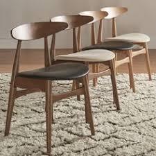 mid century living norwegian danish tapered side chairs set of 2 beige
