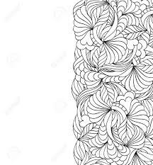 Vector Illustratie Van Bloemen Abstracte Patroon Kleurplaat Voor