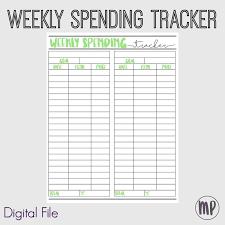 Digital Planner Insert Weekly Spending Tracker Budget Insert Printable Budget Planner Green