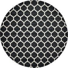 unique loom trellis black 12 2 x 12 2 round rug