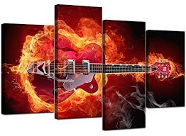 abstract red guitar canvas wall art pictures 130cm xl prints set 4065 on guitar canvas wall art red with abstract red guitar canvas wall art pictures 130cm xl prints set