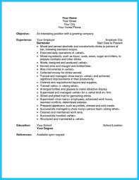 Bartender Description Bartender Job Description Resume Free Download Bartender Job 12