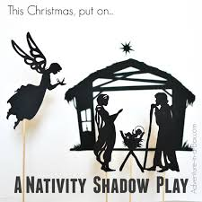 nativity silhouette printable. Perfect Silhouette Nativity Scene Shadow Puppets Set Begin A New Tradition This Christmas  Stage Shadow And Silhouette Printable