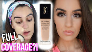 new 58 ysl all hours foundation first impression review for oily skin