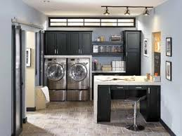 laundry office. Winsome-home-office-combined-with-track-light-design- Laundry Office