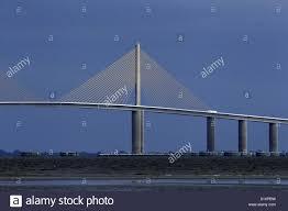 The Sunshine Skyway Bridge Spans Tampa Bay Near St