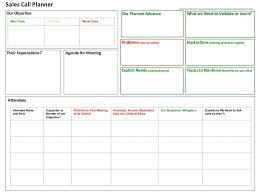 sales calling plan template sales call planner tool