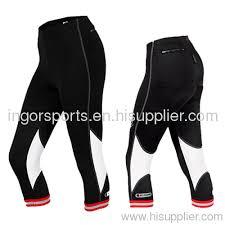 Pants Logos Summer Women 3 4 Cycling Pants With Reflective Logos No Slip Hem