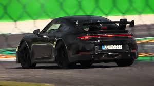For optimum supply of air to each cylinder. Porsche 992 Gt3 Gt3 Touring Package Mules Testing At Monza Circuit Youtube