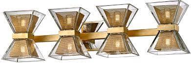 Troy B5804 Expression Modern Gold Leaf Led 4 Light Bathroom Vanity Light Tro B5804