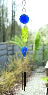 sea glass wind chime beach copper brass handcrafted outdoor chimes myrtle chinese coppe kaleidoscope sea glass wind chime