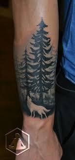 Wolf In Forest эскиз идеи для татуировок татуировки и тату