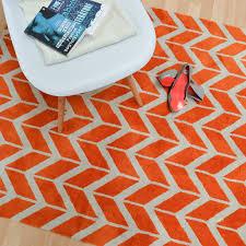 arlo chevron rugs ar in orange  free uk delivery  the rug seller