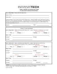 Direct Deposit Authorization Form New Direct Deposit Authorization Form For Payroll And Expense