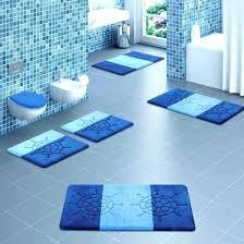 cool bath mats modern bathroom mats cool bath rugs for modern bathroom design with blue color