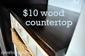 10 diy wood countertop