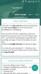 Gm Diet Weight Loss 7 Days - Apps on Google Play