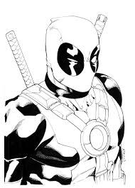 Small Picture Printable Deadpool Coloring Pagesjpg 11501600 4 Kids