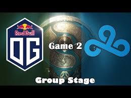 dota 2 live og vs cloud9 game 2 ti 2017 group stage youtube