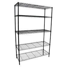 target shelving unit adjule 5 tier wire chrome room essentials