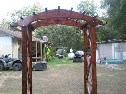 rustic x wedding arch do it yourself home projects from ana white