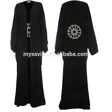 <b>Hotsale</b> New Design <b>Fashion Simple</b> Black Silk Abaya Elegantly ...