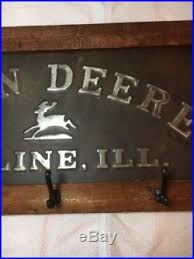 John Deere Coat Rack Embossed John Deere Signs 75