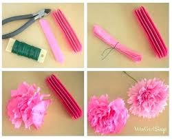 Make Tissue Paper Flower Balls Paper Flower Instructions Learn How To Make Tissue Paper Flowers