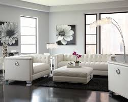 White Living Room Set Chaviano Pearl White Living Room Set 505391 Coaster Furniture
