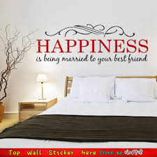 Love Bedroom Decor Happiness Married Love Family Quotes Wall Stickers For Living Room