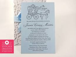 Quincenera Invitations Fairytale Laser Cut Ribbon Pearl Brooch Quinceañera Invitations