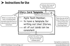 Agile Story Card Template Word Agile Story Card Templates Amazon Co Uk Office Products