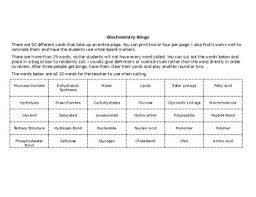 Macromolecules Chart Ap Biology Macromolecules And Table Worksheets Teaching Resources Tpt