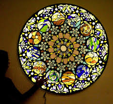 make stained glass mosaic a piece of rainbow
