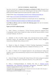 Pdf List Of Citations