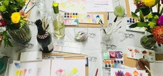 beginners watercolour flower painting class in london 1 favorite