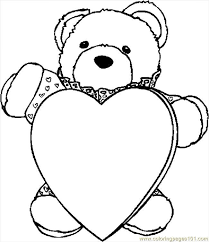 Bear Heart Coloring Page 2019 Open Coloring Pages