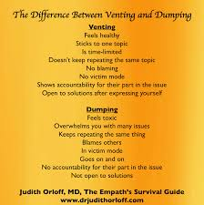 The Difference Between Venting And Dumping Psychology Today