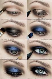 blue smokey eye tutorial how to